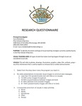 Research Survey Questionnaire and Results by Iryna Molodecky