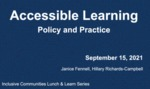 Sheridan's Academic Accommodation Policy and Procedure for Students with Disabilities by Janice Fennell and Hillary Richards-Campbell