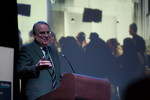 Ken Dryden makes his remarks to the crowd as part of Sheridan's Community Builder Series