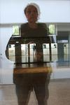 Selfie Reflection on Glass Studio wall Dansekapellet Copenhagen