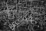 The voice of the public: blackboard at the Design Museum Denmark intended to capture the inspirations of visitors to the exhibit
