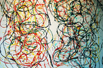 """Painting """"formio and cigalette"""" 1961, by Asger Jorn at the Louisiana Museum of Modern Art, Copenhagen, Denmark (2014)"""