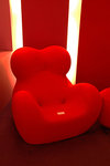Modernist orange chair, Design Museum Denmark, Copenhagen