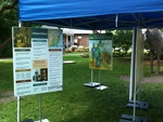 Black History poster displayed at Oakville Museum's Emancipation Day Family Picnic, 2015.