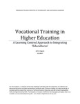 Vocational Training in Higher Education: A Learning Centred Approach to Integrating 'Educultures'